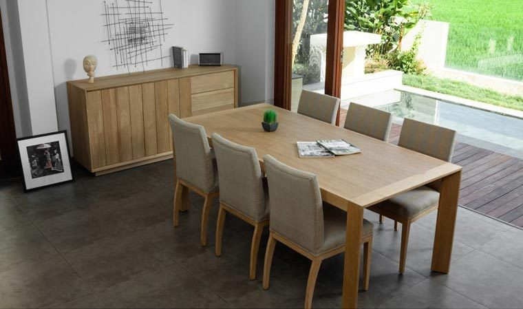 Design Chêne Massif En Cm 200 Table Contemporain gb76Yfy