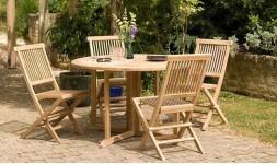 Table de jardin pliante en bois de teck