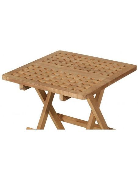Table jardin pliante carrée en teck
