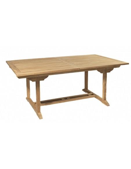 Table de jardin à rallonge en teck