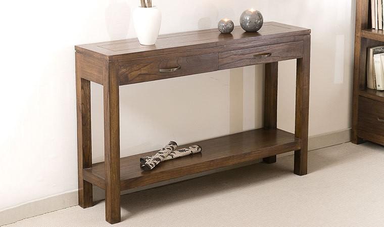 console haut de gamme en mindi massif rangements pratiques milo. Black Bedroom Furniture Sets. Home Design Ideas