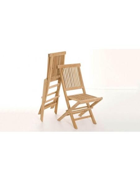 Salon de jardin 2 places en bois de teck pour balcon