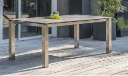 Table jardin hpl marron