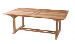 Table de jardin en teck grande capacité avec rallonge 12 places