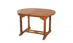Table de jardin ovale en bois de teck massif