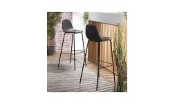 Chaise haute métal noir