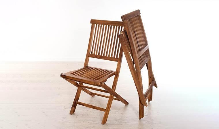 Chaise de jardin pliante en bois teck haut de gamme lanta - Chaise de jardin en bois ...