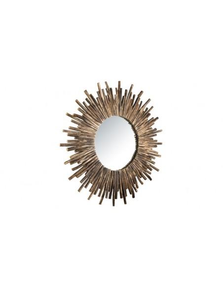 Miroir teck naturel