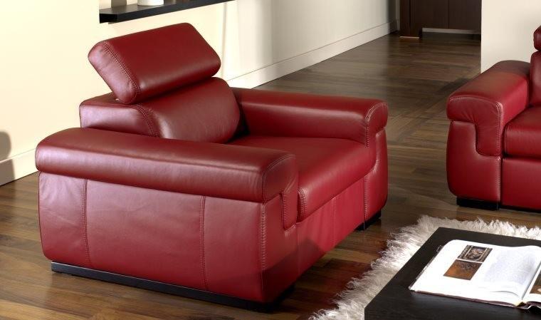 Fauteuil cuir VALENCE - Fauteuil cuir design