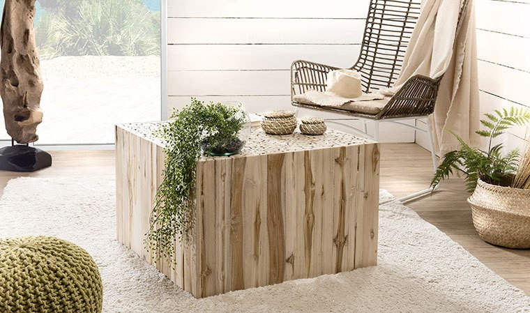 Table basse rondins