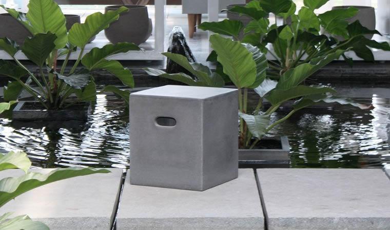 Cube béton pour décoration industrielle