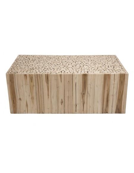 Table basse originale en teck