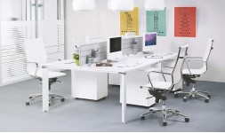 Bureau contemporain blanc