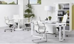 Bureau d'angle blanc design