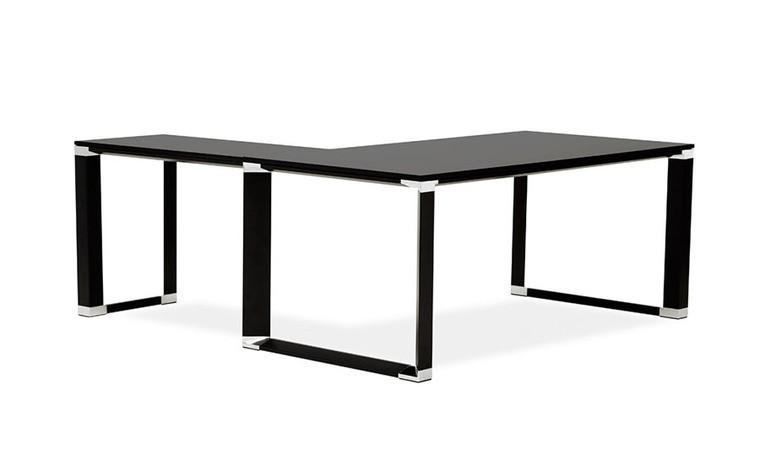 bureau angle noir design