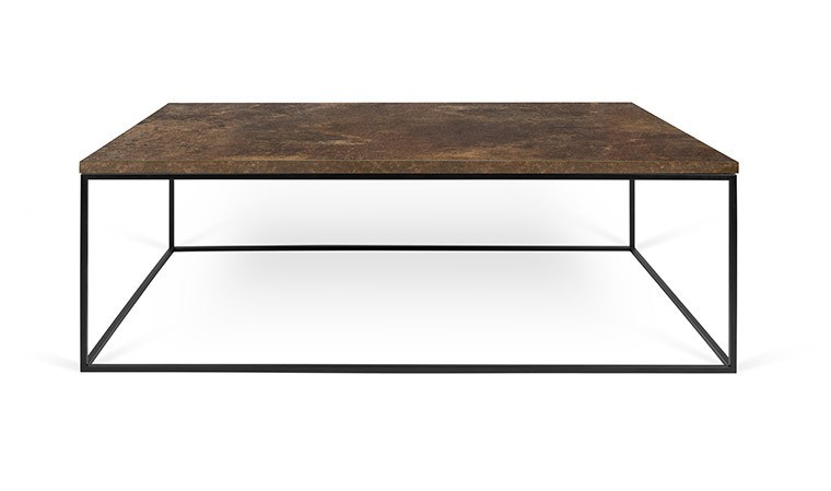 table basse industrielle finition rouille gleam. Black Bedroom Furniture Sets. Home Design Ideas