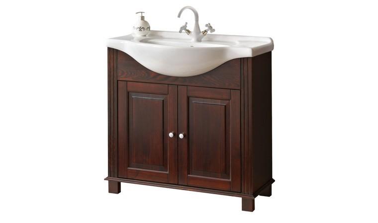 meuble vasque bois retro