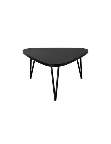 Table basse noire goutte d'eau