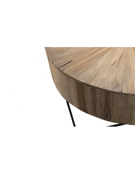 Table basse ronde teck
