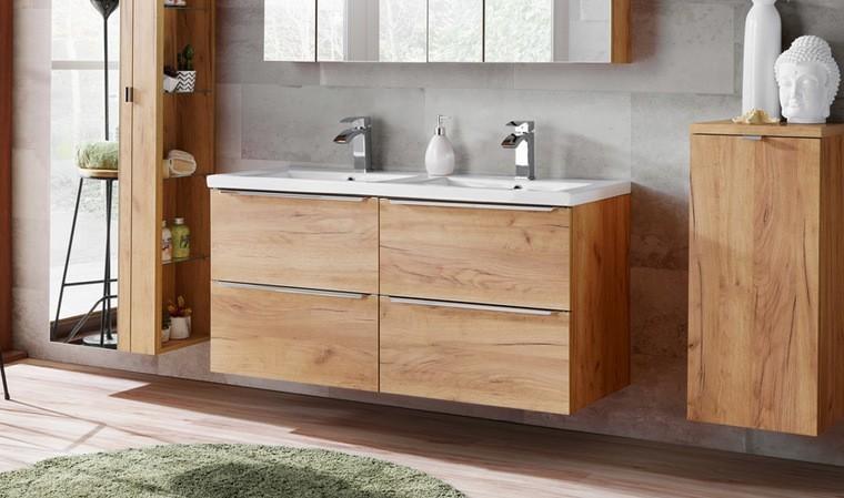 Meubles sous-vasque muraux + vasques 120 cm