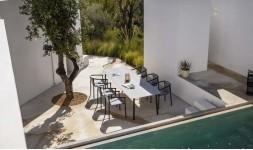 Ensemble repas de luxe jardin
