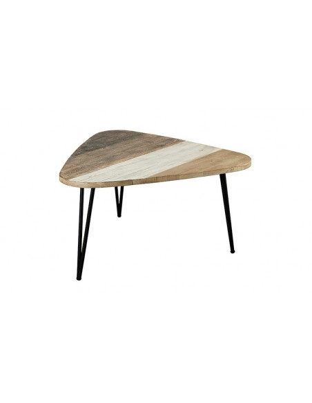 Table basse style atelier bois et métal