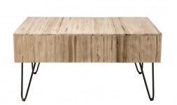 Table basse tiroir teck