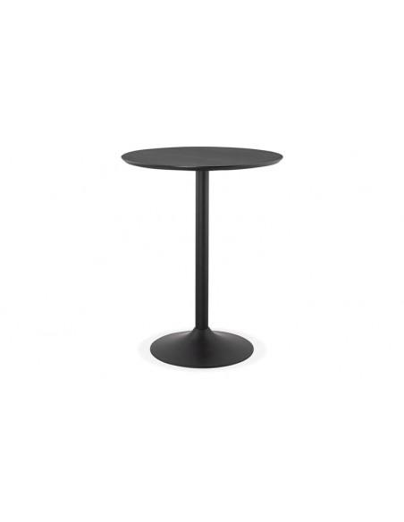 table haute noire design ronde