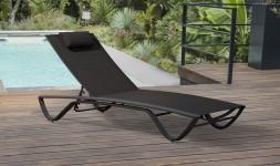chaise longue noire design