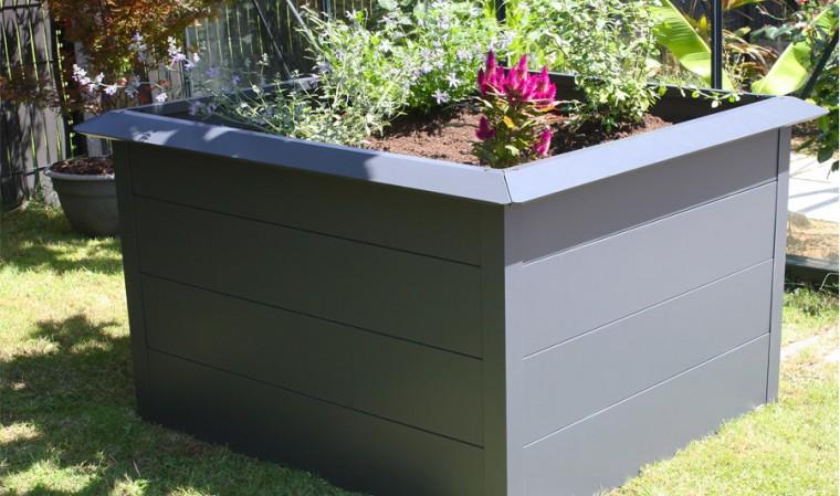 carré potager gris design