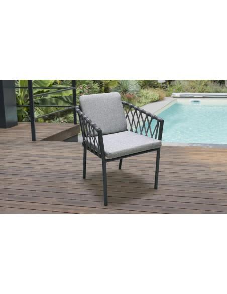 fauteuil de jardin design corde