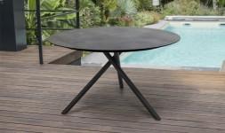 table de jardin ronde design