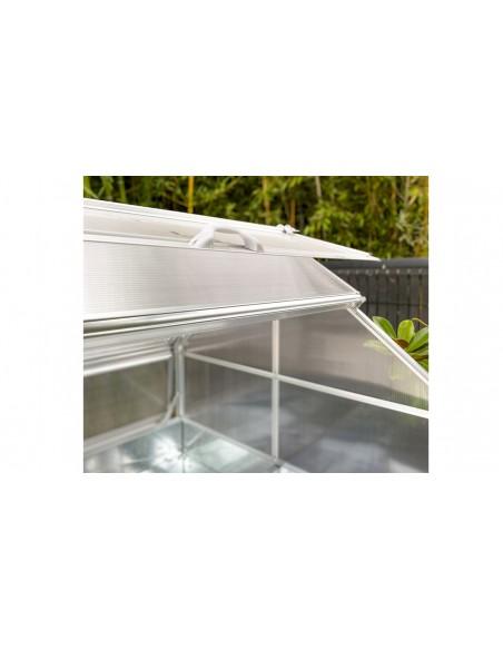 mini serre de jardin blanche stretto toit