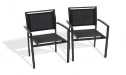 fauteuil jardin empilable textilene