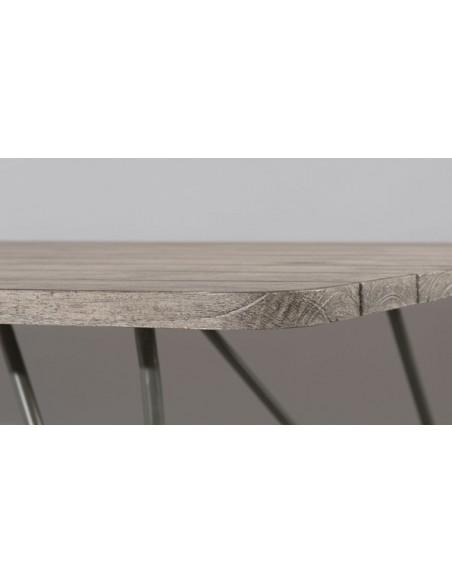 Table de jardin en teck et acier