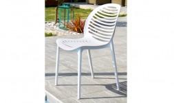 Chaise polypropylène blanc