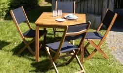 salon de jardin 4 places en bois acacia