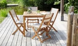 Salon de jardin en acacia 4 places