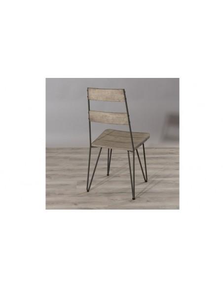 Chaise haute jardin en bois