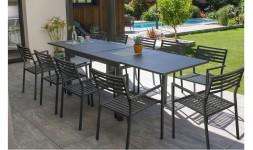 Ensemble table rallonge 10 fauteuils