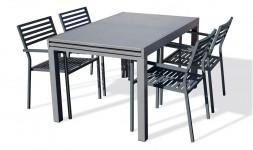 Ensemble table extensible 4 fauteuils