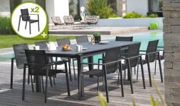 Salon jardin extensible 12 fauteuils