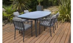 Ensemble table extensible 6 fauteuils
