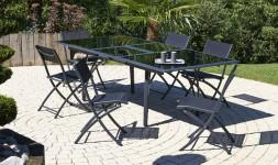 Ensemble table rallonge 6 chaises