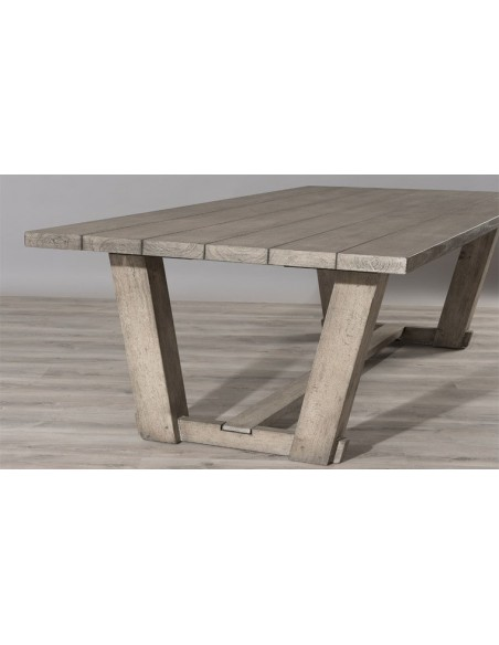 table jardin en teck massif
