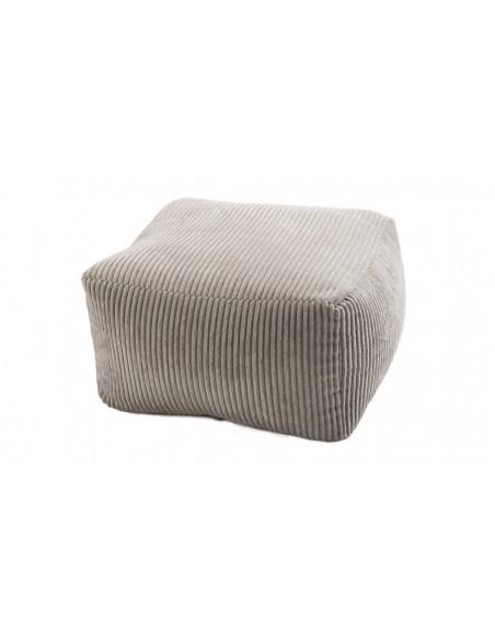 Pouf velours gris perle Emilia