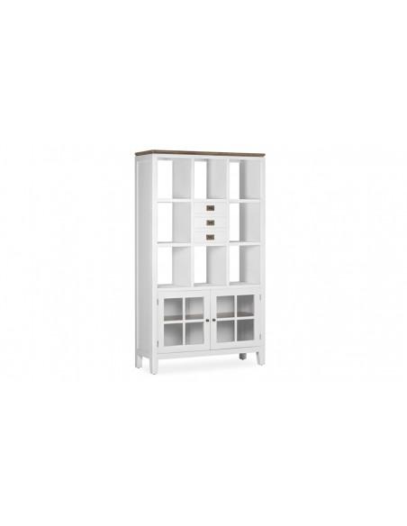 Bibliothèque bois blanc   3 tiroirs