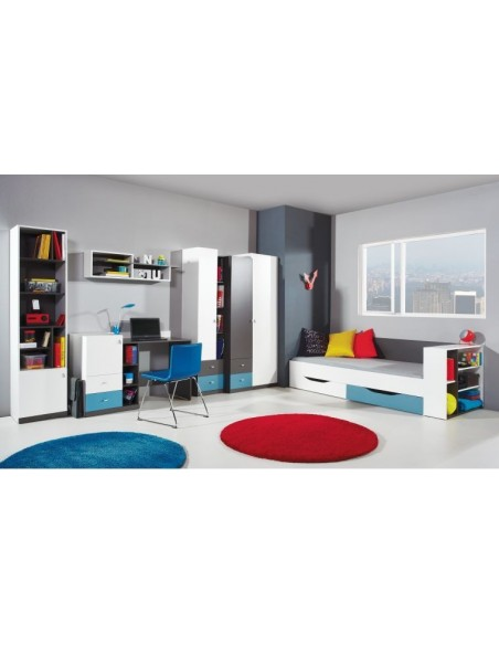 Armoire d'angle ado pour chambre enfant