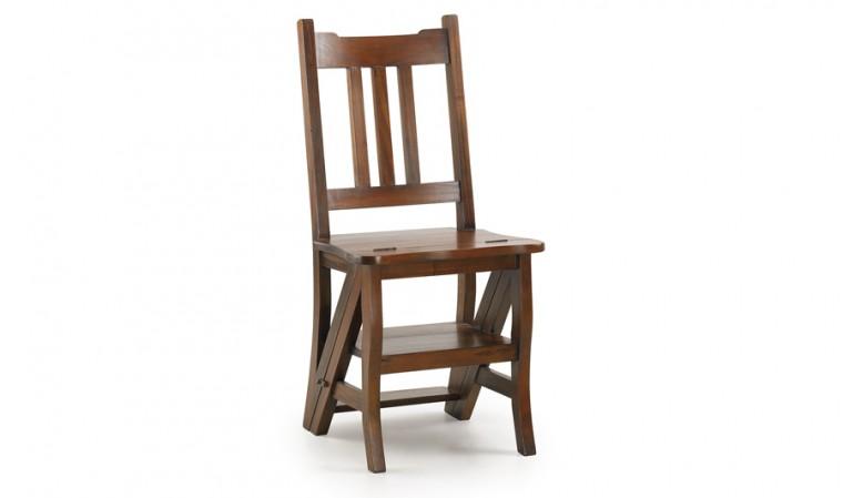Chaise échelle acajou