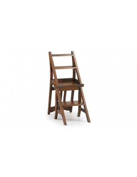 Chaise échelle acajou toona
